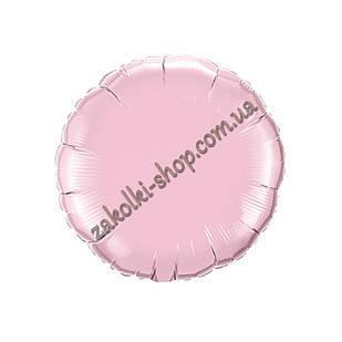 Фольгированные воздушные шары, форма:круг, цвет: розовый, 18 дюймов/45 см, 1 штука