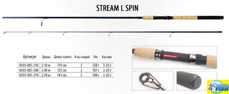 Спиннинг BratFishing Stream L Spin 2,10 (3-25g)