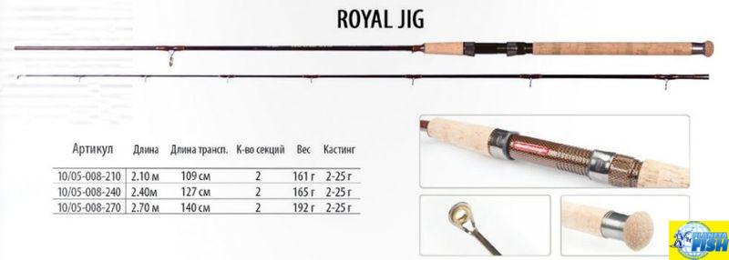 Спиннинг Bratfishing Royal Jig 2,1m (2-25g)