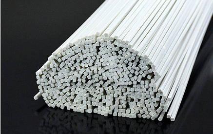 Пластиковый профиль 1 мм. Х 1 мм. Квадрат, длина 250 мм. 1 шт., фото 2