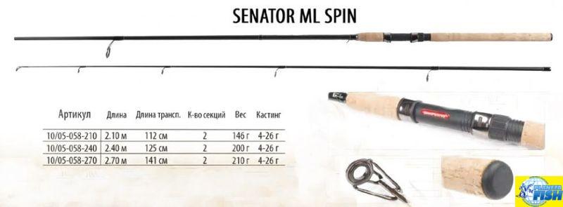 Спиннинг Bratfishing Senator ML 2.1m (4-26g)