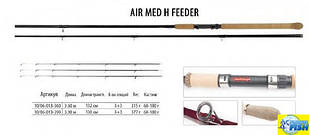 Фідер BratFishing Air Med H Feeder 3,6 m (60-180g)