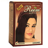 Краска для волос на основе хны — цвет Бургунд Reem Gold