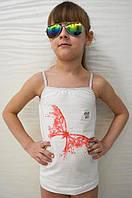 Майка дитяча на тонких бретелях для дівчаток, фото 1