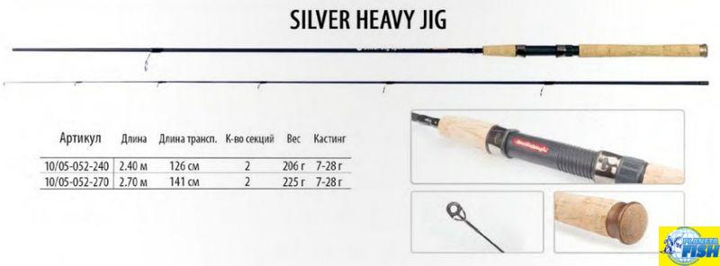 Спиннинг BratFishing Silver Heavy Jig Spin 2.4m (7-28g)