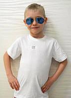 Біла Футболка для хлопчика бавовняна, фото 1