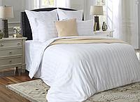 Белое сатиновое постельное белье отелям