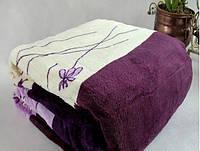 Микрофибровая простынь, плед, покрывало Elway евро Фиалка фиолетовая