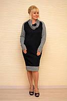 Платье с шарфом-рукава - Модель Л415-1