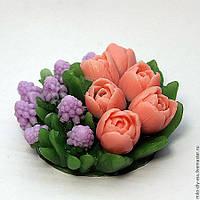 Силиконовая форма Букет тюльпанов с мускариками
