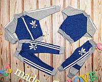 Детский модный серо-синий спортивный костюм (86-92 см) 27П94