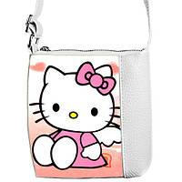 Белая сумка  с принтом Хелло Китти