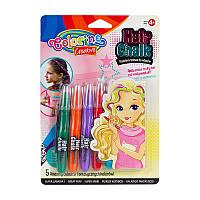 Мелки для волос 5 цветов микс, Colorino