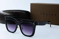 Женские очки солнцезащитные Celine квадратные 41444 черные