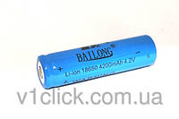 Аккумулятор Bailong Li-ion 18650 4200mAh 4.2V