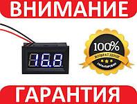 Вольтметр цифровой 4.5-30В DC СИНИЙ с защелкам, фото 1