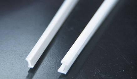 Пластиковый профиль 1 мм. х 2  мм.Двутавр, длина 250 мм. 1 шт., фото 2