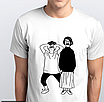 """Футболка чоловіча біла з малюнком """"Єнот"""", фото 2"""