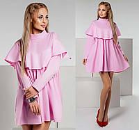 """Женское стильное короткое платье 1148 """"Подруга Жабо"""" в расцветках"""