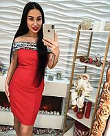 Женское облегающее платье с пайеткой (2 цвета)
