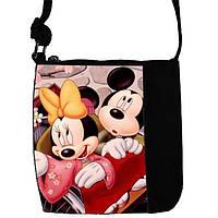 Черная сумка для девочки с принтом Мики Маус