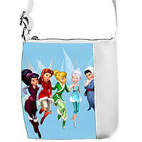 Белая сумка для девочки с принтом Феи