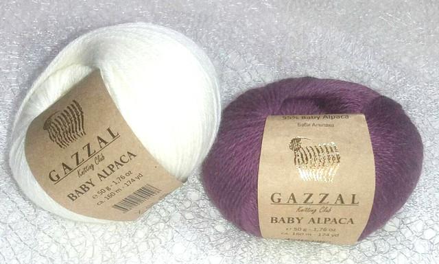 Gazzal Baby Alpaca / Бебйби Альпака / 55% Беби Альпака, 45% Мериносовая шерсть файн супервош