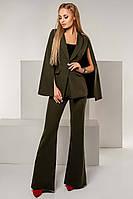 """Элегантный женский брючный костюм 1147 """"Креп Клёш Кейп"""" в расцветках"""