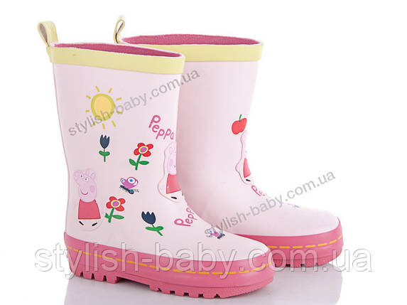 Обувь для непогоды оптом. Детские резиновые сапоги бренда ВВТ для девочек (рр. с 24 по 29), фото 2