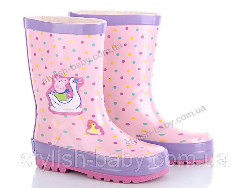 Обувь для непогоды оптом. Детские резиновые сапоги бренда ВВТ для девочек (рр. с 24 по 29)
