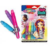"Краски ""Colorino"" для волос, Metallic на планшетке, 5 цветов, микс"