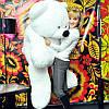 Огромный плюшевый медведь Бублик 200 см (белый)