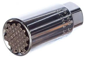 Головка торцевая многоразмерная 11-32 мм под квадрат 1/2, CrV, хромированная Gross (13190)