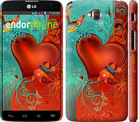 "Чехол на LG G Pro Lite Dual D686 Сердце в цветах ""220c-440-5114"""