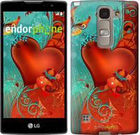 "Чехол на LG Spirit Dual H422 Сердце в цветах ""220u-245-5114"""