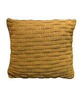 Декоративна наволочка в'язана шато груша 45х45 см ТМ Прованс