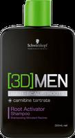 Schwarzkopf 3D Men Root Activator Shampoo Шампунь активатор роста волос–очищение