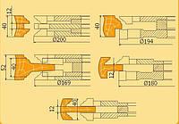 Фрезы твердосплавные для полного изготовления филёнчатых дверей с остеклением КН-6.01
