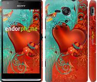 "Чехол на Sony Xperia SP M35H Сердце в цветах ""220c-280-5114"""
