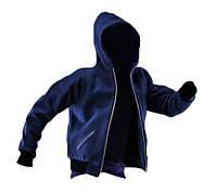 Мужская куртка с кашемира синего цвета