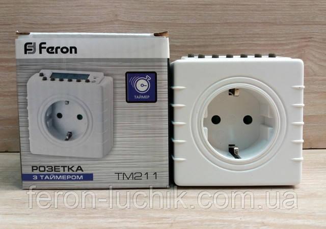 Електронна розетка з таймером Ферон TM211