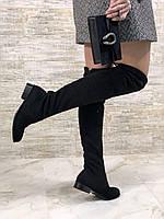 Стильные Ботфорты Stuart Weitzman на низком каблуке