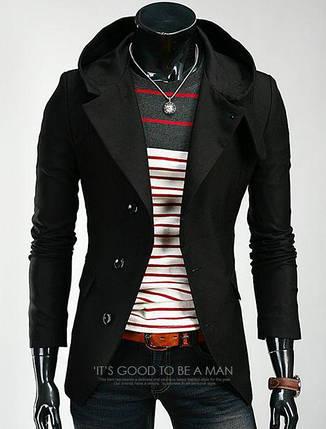 Пальто чоловіче з кашеміру з капюшоном, фото 2