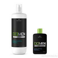 Schwarzkopf 3D Men Deep Cleansing Shampoo Шампунь для глубокого очищения