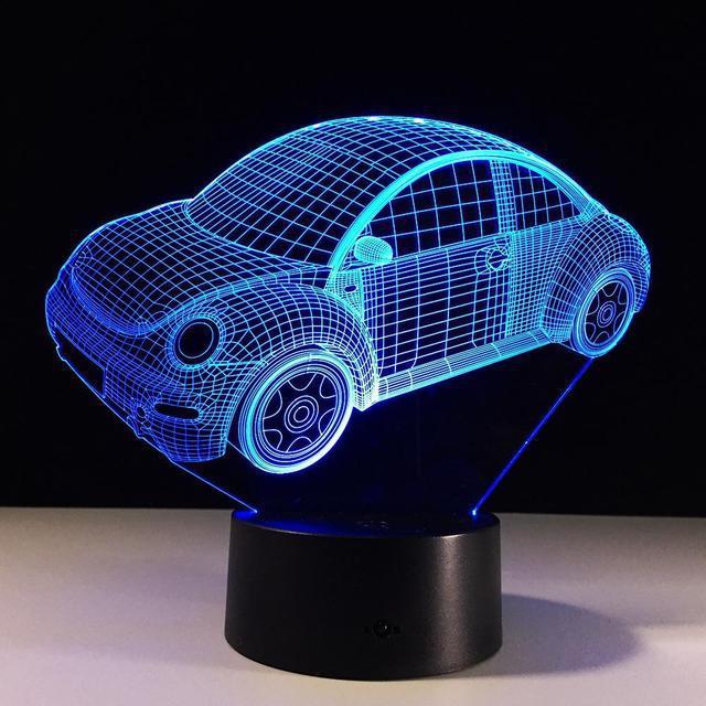 Детский 3D светильник Машинка VOLKSWAGEN