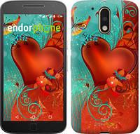 """Чехол на Motorola MOTO G4 Сердце в цветах """"220c-511-5114"""""""