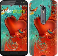 "Чехол на Motorola Moto X Style Сердце в цветах ""220c-455-5114"""