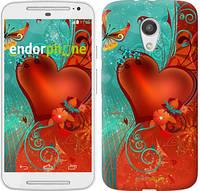 """Чехол на Motorola Moto G2 Сердце в цветах """"220u-330-5114"""""""