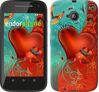 """Чехол на Motorola Moto E2 Сердце в цветах """"220u-377-5114"""""""