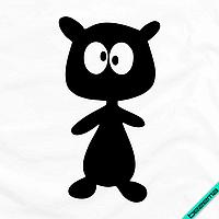 Декор на тапочки медвежонок [7 размеров в ассортименте] (Тип материала Матовый)